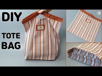 DIY EASY ECO BAG/ SIMPLE TOTE BAG/ How to make a Grocery Bag/ sewing tutorial [Tendersmile Handmade]