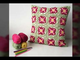 Most beautiful 20+ Handmade Cushions Crocheted | Embroidered Cushion Covers Design's