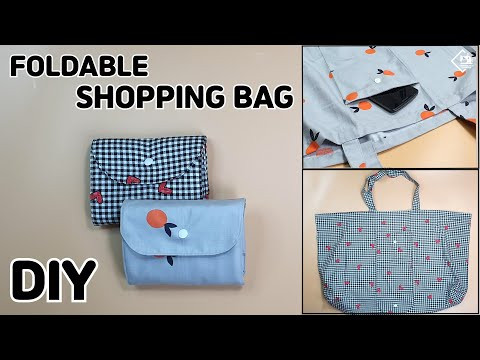 DIY FOLDABLE SHOPPING BAG / Big Grocery Bag/ eco bag/ sewing tutorial [Tendersmile Handmade]