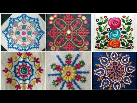 Beautiful Stylish Hand Embroidery Kutch Work Cushion Cover Designs / Sindhi embroidery