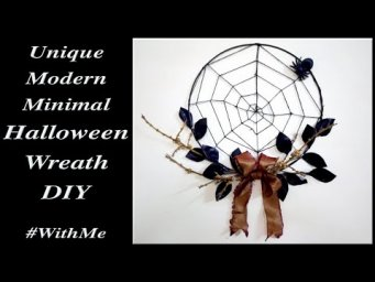 Unusual Unique Modern Minimal Farmhouse Halloween Wreath DIY / MomDas Life Handmade
