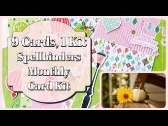9 Cards 1 Kit Spellbinders Card Kit of the Month | Card Making Ideas October 2020 | Monthly Card Kit