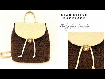 How to crochet star stitch backpack(EN)