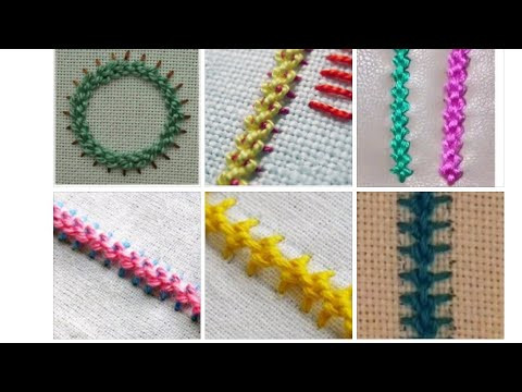 Raised chain band embroidey tutorial