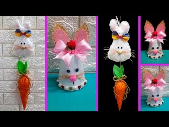 2 Economical Easter Bunny  made with waste materials |DIY Low budget Easter décor idea (Part5)