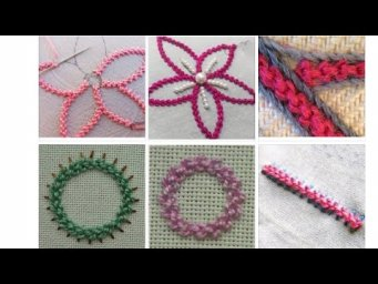 Palestrina and raised chain embroidery tutorials
