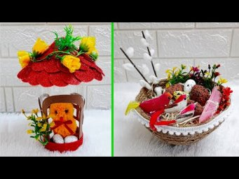 2 Economical Easter/Spring Craft made with waste materials |DIY Low budget Easter décor idea(Part19)