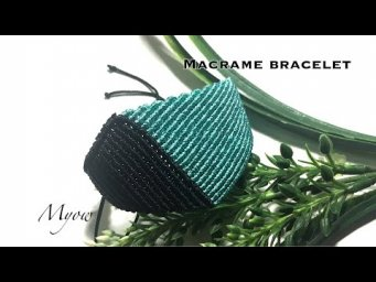 MACRAME BRACELET | BRACELET FOR MEN | MACRAME TRIANGLE BRACELET FROM BASIC KNOTS | MYOW 274