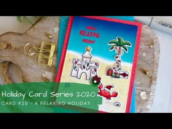 Holiday Card Series 2020 #20 | Copic Coloring a Non-Traditional Christmas Card | Lawn Fawn