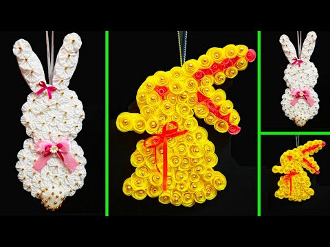 2 Easter Wreath made with waste materials step by step at home |DIY Low budget Easter décor idea