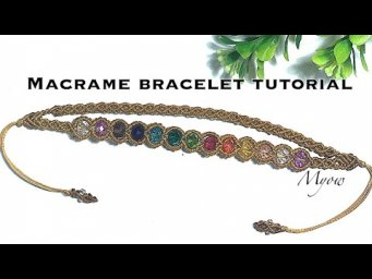 RAINBOW COLORED BEADS BRACELET  - MACRAME BRACELET TUTORIAL - MYOW#99