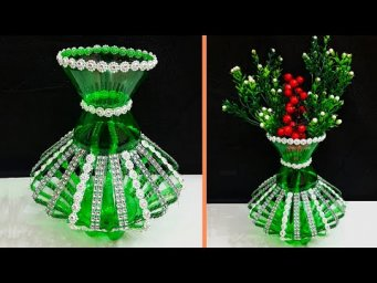 DIY- Showpiece/Flower vase made from Plastic Bottle | Best out of waste Room decoration idea