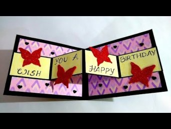 Beautiful Handmade Birthday Card for Boyfriend | Handmade Birthday card idea | Tutorial