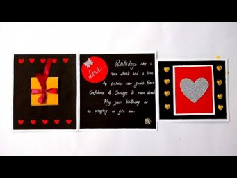 Beautiful Birthday Greeting Card Idea | Handmade Birthday Card | complete tutorial