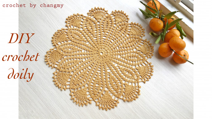 DIY crocchet vintage doily, circle shape, small size | crochet by changmy